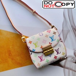 Louis Vuitton Colored Monogram Crossbody Bag M40660 White bag