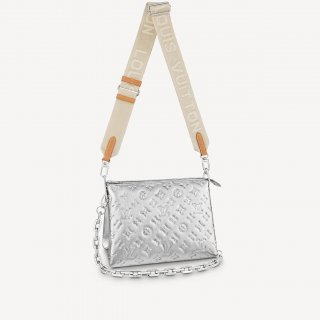 Louis Vuitton Coussin PM Bag in Monogram Leather M57913 Silver bag