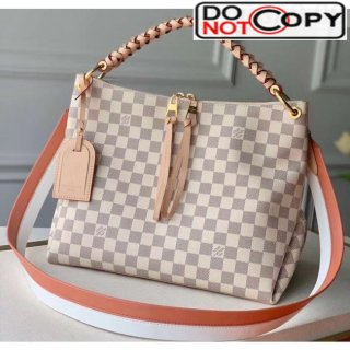 Louis Vuitton Damier Azur Canvas BEAUBOURG Hobo Mini Bag M55090 White Bag