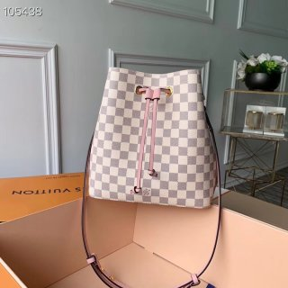 Louis Vuitton Damier Azur Canvas NeoNoe Bucket Bag N40152 Eau de Rose bag