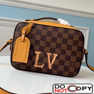 Louis Vuitton Damier Azur Canvas Saintonge Top Handle Bag N40155 Yellow bag