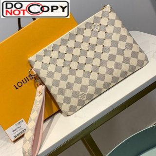 Louis Vuitton Damier Azur Canvas Studded City Pouch N60253