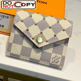 Louis Vuitton Damier Azur Canvas Studded Zoe Small Wallet N60251 bag
