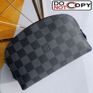 Louis Vuitton Damier Cobalt Canvas Cosmetic Pouch N47516 Black