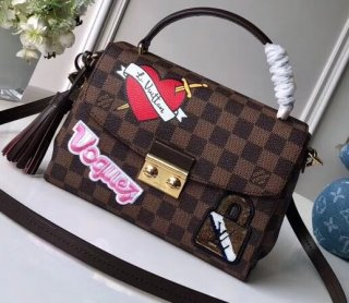Louis Vuitton Damier Ebene Canvas Travel Stickers Croisette Bag N40055 bag