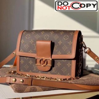 Louis Vuitton Dauphine MM Monogram Canvas Shoulder Bag M44391 Coffee bag