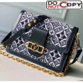 Louis Vuitton Dauphine MM Monogram Print Canvas Shoulder Bag M57211 Blue Bag