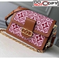 Louis Vuitton Dauphine MM Monogram Print Canvas Shoulder Bag M57211 Brown Bag
