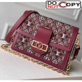 Louis Vuitton Dauphine MM Monogram Print Canvas Shoulder Bag M57211 Burgundy Bag