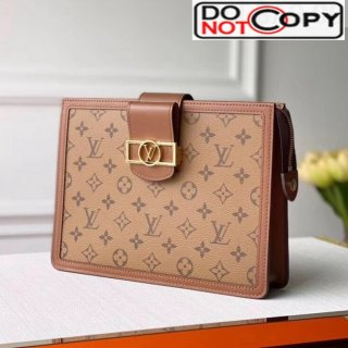 Louis Vuitton Dauphine Monogram Canvas Pouch M44178 Brown bag