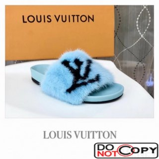 Louis Vuitton Digital Exclusive Bom Dia Flat Mule 1A4G9E Blue