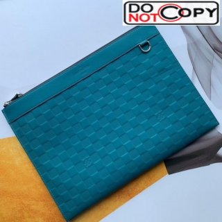 Louis Vuitton Discovery Pochette Damier Infini Leather Pouch N60112 Blue
