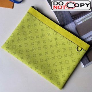 Louis Vuitton Discovery Pochette Monogram Canvas Pouch M62291 Yellow