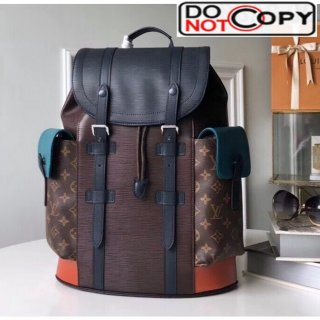 Louis Vuitton Epi Leather and Monogram Canvas Christopher PM Backpack Brown M51458 bag