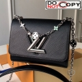 Louis Vuitton Epi Leather Flower Twist PM M55412 Black bag