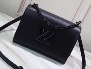 Louis Vuitton EPI Leather Twist MM Bag M53236 All Black bag