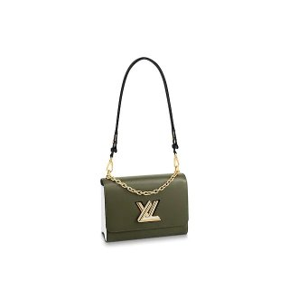 Louis Vuitton Epi Leather Twist MM Bag With Short Chain Handle M51884 Army Green Bag