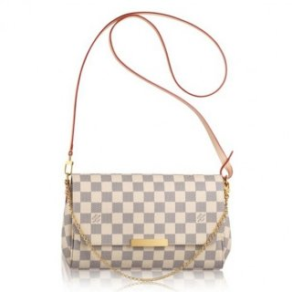 Louis Vuitton Favorite MM Bag Damier Azur N41275 bag