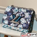 Louis Vuitton Floral Print Twist PM Chain Shoulder Bag M55038 Blue bag