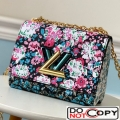 Louis Vuitton Floral Print Twist PM Chain Shoulder Bag M55038 Red bag
