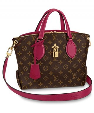 Louis Vuitton Flower Zipped Tote BB M44350 red bag