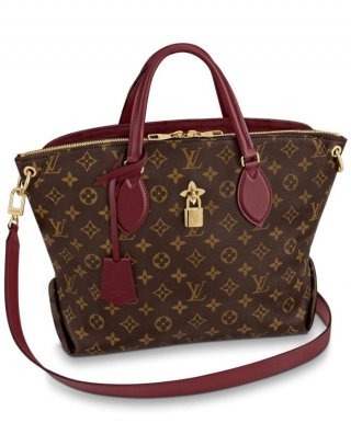 Louis Vuitton Flower Zipped Tote MM M44348 red bag