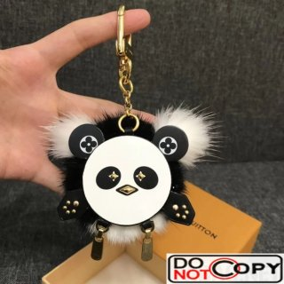 Louis Vuitton Fur Leather Wild Puppet Bag Charm and Key Holder M63094
