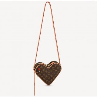 Louis Vuitton Game On Coeur Heart Shaped Bag in Brown Monogram Canvas M57456 Bag