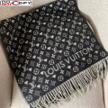 Louis Vuitton Game On Monogram Wool Scarf 45x180cm Black