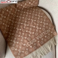 Louis Vuitton Game On Monogram Wool Scarf 45x180cm Light Brown