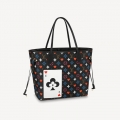 Louis Vuitton Game On Neverfull MM Tote Bag in Black Monogram Canvas M57483 Bag