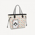 Louis Vuitton Game On Neverfull MM Tote Bag in White Monogram Canvas M57462 Bag