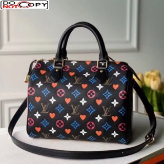 Louis Vuitton Game On Speedy Bandouliere 25 in Black Monogram Canvas M57466 bag