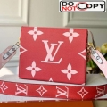 Louis Vuitton Giant Monogram Strap Toilet Pouch XL Red bag