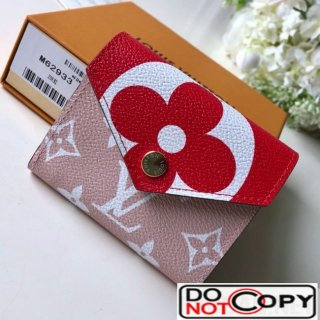 Louis Vuitton Giant Monogram Zoe Wallet M67641 Red Pink bag