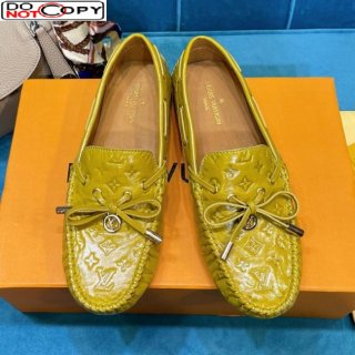 Louis Vuitton Gloria Monogram Leather Flat Loafer Mustard Yellow