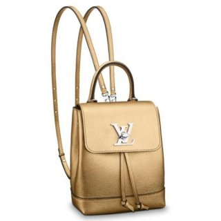 Louis Vuitton Gold Lockme Mini Backpack M54575 bag