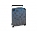 Louis Vuitton Horizon 55 Luggage Travel Bag in Blue Damier Graphite Canvas N20021