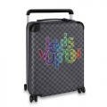 Louis Vuitton Horizon 55 Luggage Travel Bag in Colored Logo Damier Graphite Canvas N40265