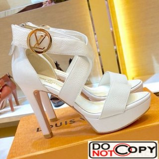 Louis Vuitton Horizon LV Circle Platform High Heel Sandal White