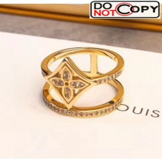 Louis Vuitton Idylle Blossom Two-Row Ring Gold