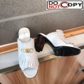 Louis Vuitton INDIANA Mules Sandals in White Patent Leather