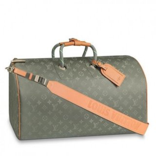 Louis Vuitton Keepall Bandouliere 50 Monogram Titanium M43886