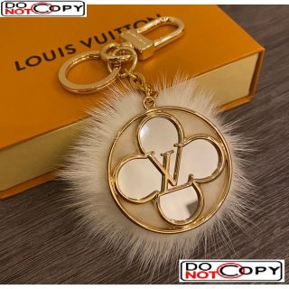 Louis Vuitton Key Holder and Bag Charm HY02 White