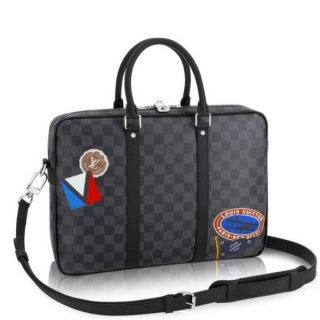 Louis Vuitton League Porte Documents Voyage PM Damier Graphite N41053