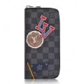 Louis Vuitton League Zippy Wallet Vertical Damier Graphite N64443 bag