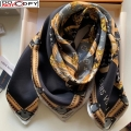 Louis Vuitton Let's Go Silk Square Scarf 90x90cm Black