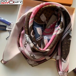 Louis Vuitton Let's Go Silk Square Scarf 90x90cm Pink