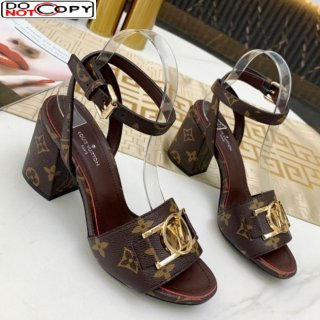 Louis Vuitton Lock It LV Circle Sandals Monogram Canvas
