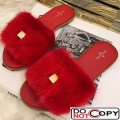 Louis Vuitton LOCK IT Mink Flat Mule Red
